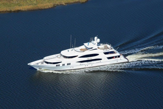 50m Trinity superyacht Lady Sura (T059) - Sea Trial December 2012