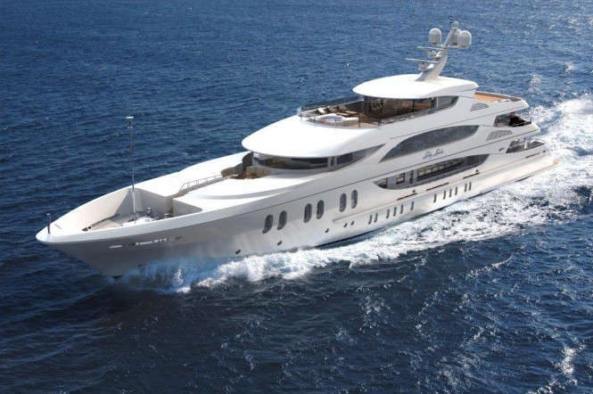 57 m Trinity luxury yacht LADY LINDA