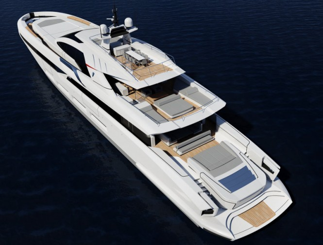 58m Francesco Pazskowski motor yacht design - view from above