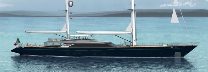60m Perini Navi sailing yacht Hull C.2193