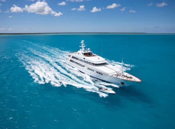 62 m Feadship motor yacht FAITH refitted by Composite Works