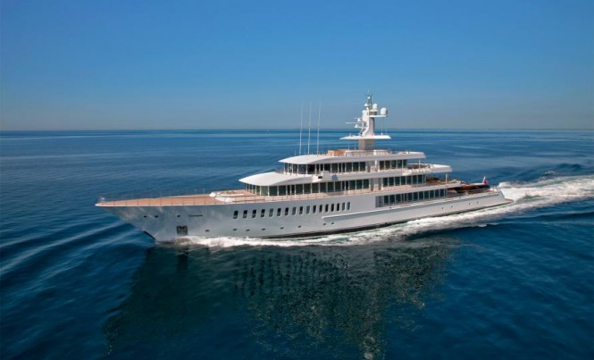 88 m Feadship mega yacht Musashi - Image courtesy of Sinot Yacht Design