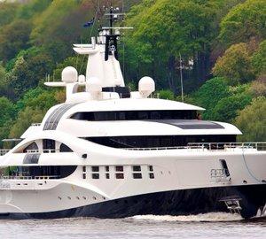 Michael Leach designed 96m Blohm & Voss megayacht PALLADIUM nominated for IY&A Awards 2013