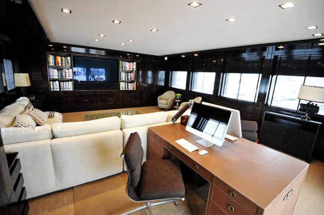 Aboard luxury yacht A2 refitted by Pendennis