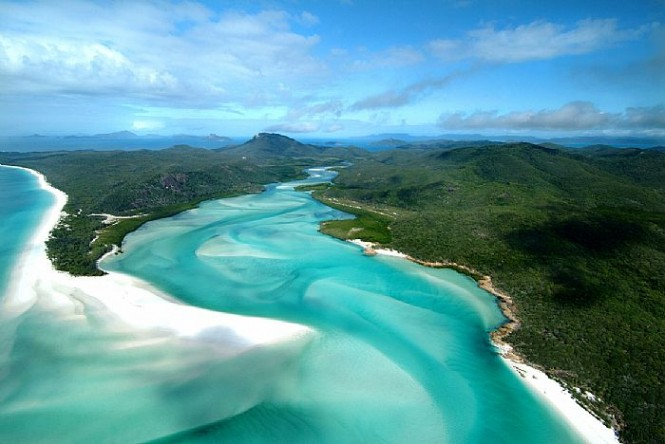 Aerial view of Hamilton Island