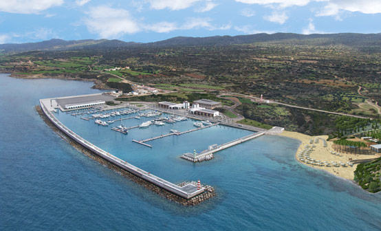 Aerial view of Karpaz Gate Marina