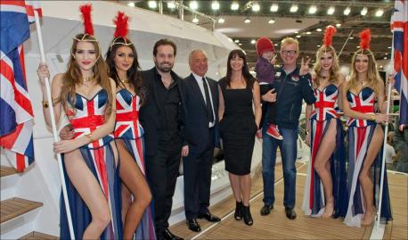 Alfie Boe opens the Sunseeker International stand at London Boat Show 2013