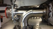 An example of an exhaust re-heater installation