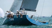 Azzurra in action during day one at the Quantum Key West Race Week