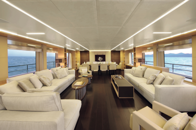 Benetti Classic Supreme 132 Yacht - Interior - Saloon - Photo credit Thierry Ameller