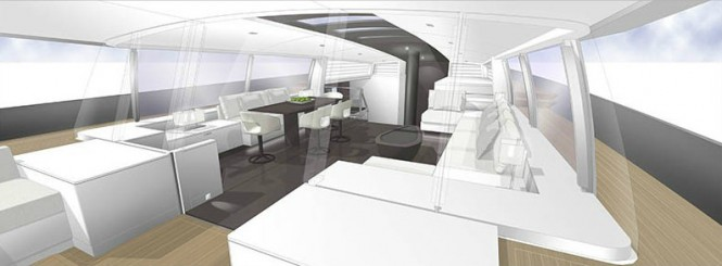 CNB Yacht Evoe 100 Concept - Interior Design by Rhoades Young
