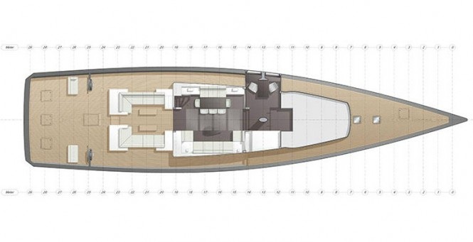 CNB superyacht Evoe 100 concept with interior design by Rhoades Young