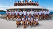 Crew of the 96m megayacht VAVA II