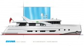 DIANA Blu coupe version yacht - white hull