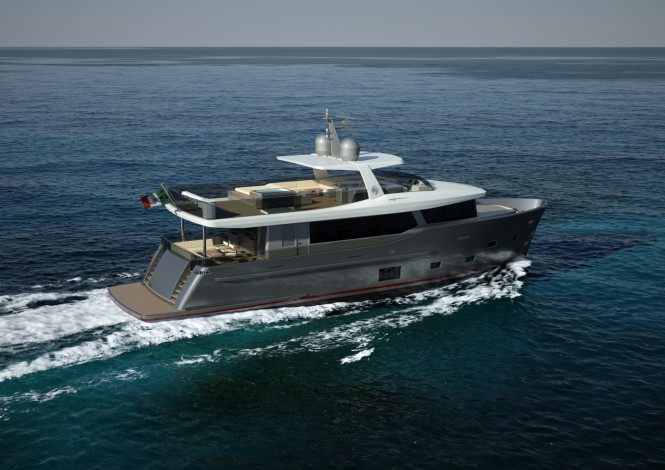 Explorer Yacht CdM Nauta Air 88 by Nauta Yacht Design for Cantiere delle Marche