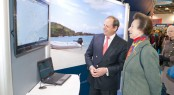 HRH Princess Anne with Oyster CEO, David Tydeman tracking the Oyster World Rally fleet in the Caribbean