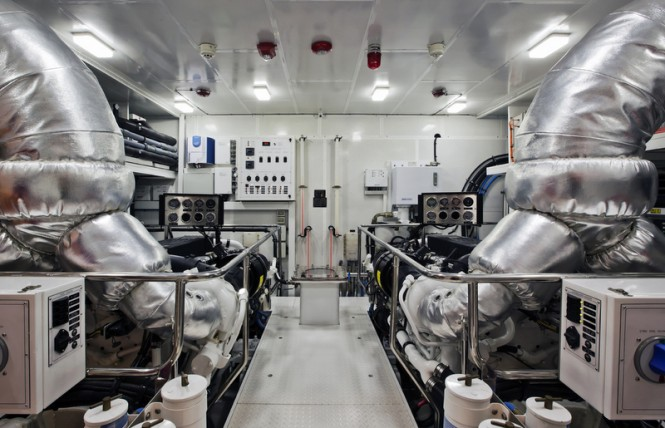 Hargrave 125 RPH Yacht Gigi II - Engine Room