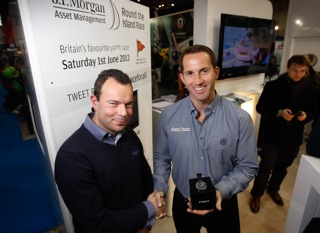 Jeff Blue receives the Timex Outstanding Seamanship Award from Sir Ben Ainslie at the London Boat Show which opened today at ExCel. Photo: Paul Wyeth