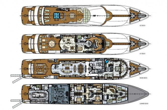 Lady Trinity superyacht - General Arrangement