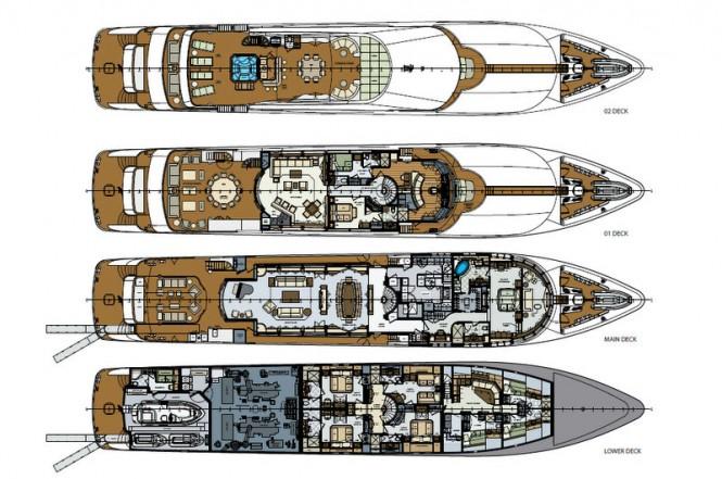 Lady Trinity superyacht - General Arrangement