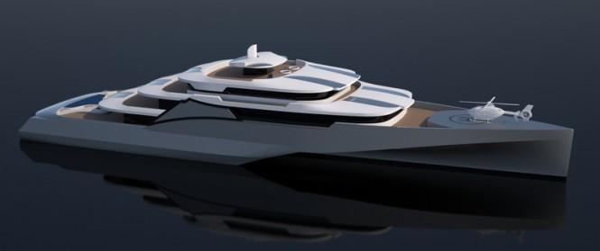 Latest 102 m mega yacht concept by Misha Merzliakov