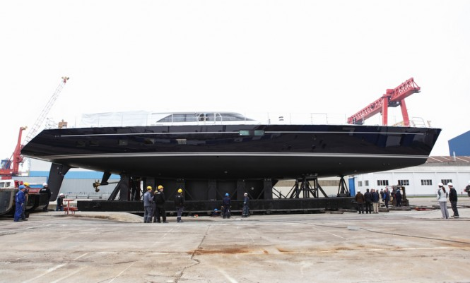 Launch of the 40m Perini Navi superyacht State of Grace (hull C.2180)