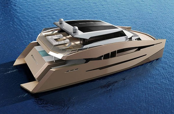 Luxury catamaran yacht 85 Power by Sunreef - view from above