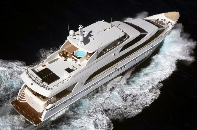 Luxury motor yacht Gigi II by Hargrave Custom Yachts - view from above