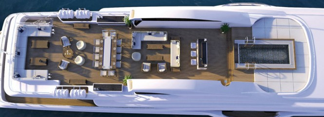 Luxury motor yacht Vicky - view from above