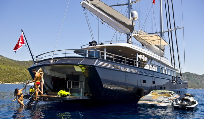 Luxury motorsailer yacht 60 Years - Lazarette