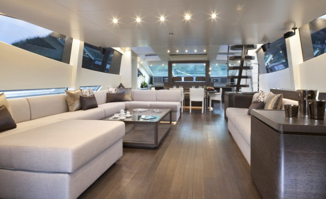 Luxury yacht Cerri 102 Hull 2 - Saloon