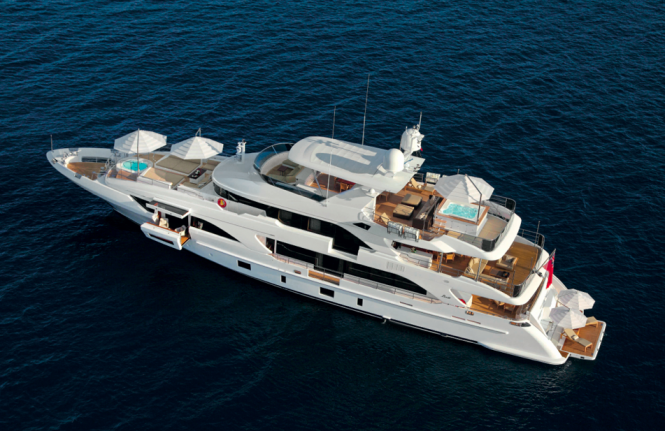 Luxury yacht Classic Supreme 132 by Benetti - view from above Photo credit Thierry Ameller