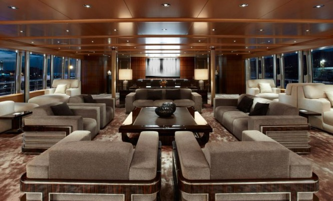 Luxury yacht Musashi - Interior Image courtesy of Sinot Yacht Design