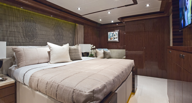 New Hargrave Yacht Gigi II  Yacht Bedroom Interiors