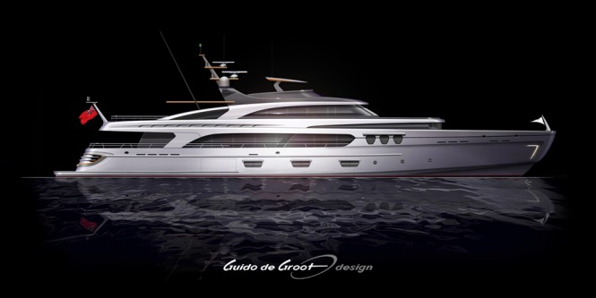 New Intec Marine 140 Hybrid Yacht by Guido de Groot and Doug Sharp