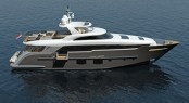 New Monte Fino 32m Raised Pilothouse motor yacht P1104 designed by Mulder Design