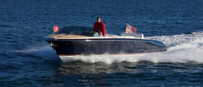 Newly delivered Hull 414 yacht tender by Hodgdon Yachts