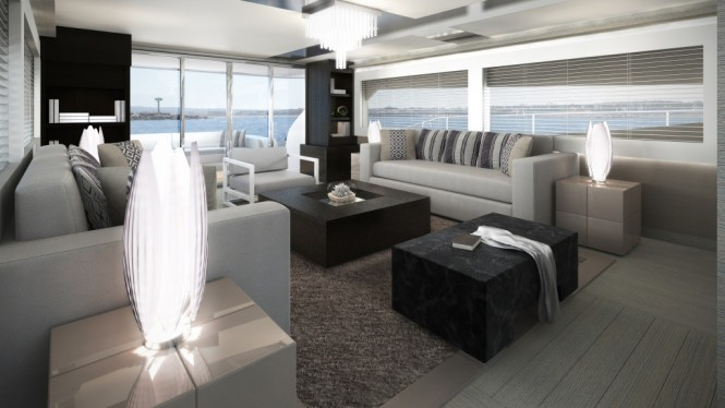Pearl 75 yacht - interior designed by Kelly Hoppen MBE