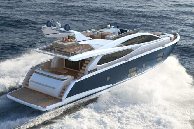 Pearl 75 yacht styled by Kelly Hoppen MBE