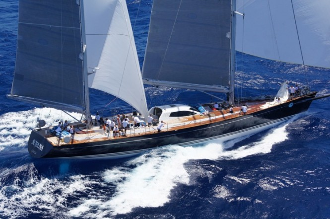 Peter Harrisons magnificent 115-foot charter yacht SOJANA - Photo by Kevin Johnson