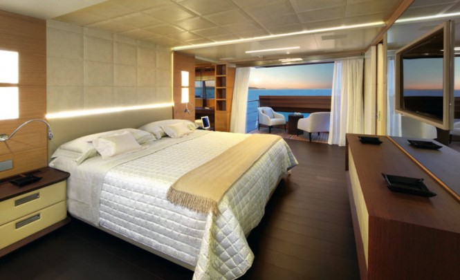 Petrus II superyacht - Stateroom Photo credit: Thierry Ameller