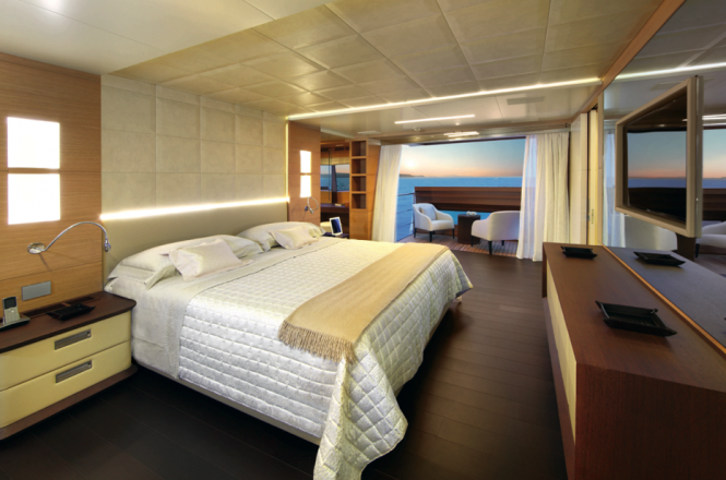 Petrus II superyacht - Stateroom Photo credit Thierry Ameller