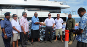 Project Big Fish - Aid arriving to Fiji Islands aboard superyacht Big Fish