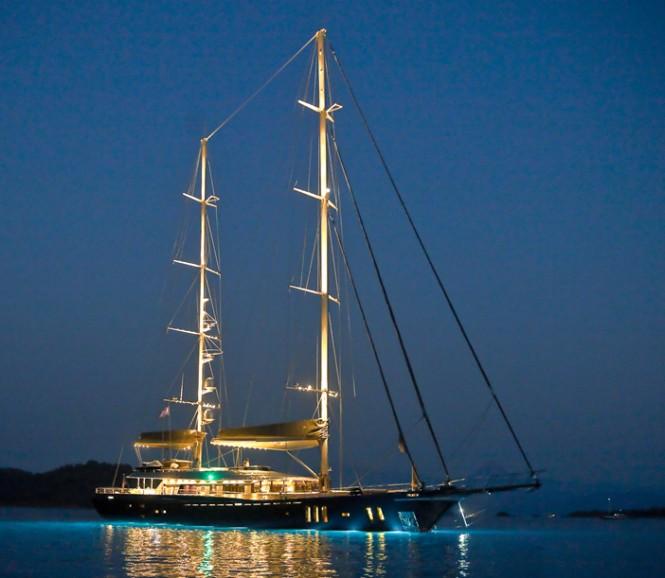 Royal Craft Yacht 60 Years at night