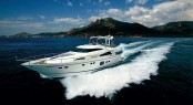 Squadron 78 charter yacht XKE built by Fairline Boats