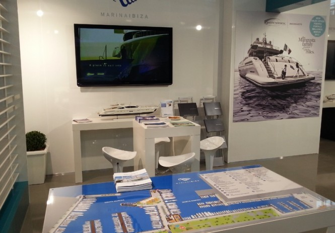 Stand of Marina Ibiza and Overmarine Group Mangusta at boot Dusseldorf 2012