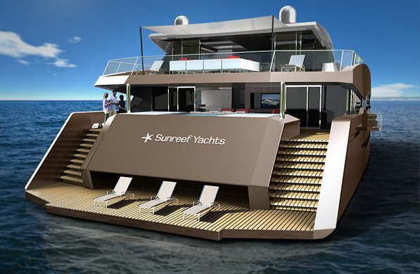 Sunreef Yacht's 85 Power superyacht design - aft view