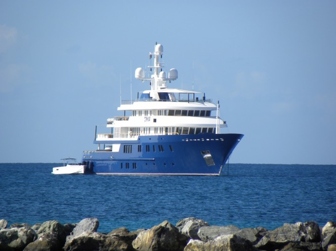 Superyacht POLAR STAR near Nevis - Caribbean - Image by Scott Henderson