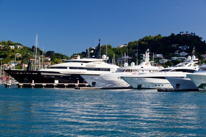 Superyachts at Port Louis Marina