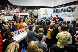 Tremendous support for the #raceforall campaign officially launched by Sir Ben Ainslie at the Tullett Prebon London Boat Show in aid of the Ellen MacArthur Cancer Trust. Photo: Paul Wyeth